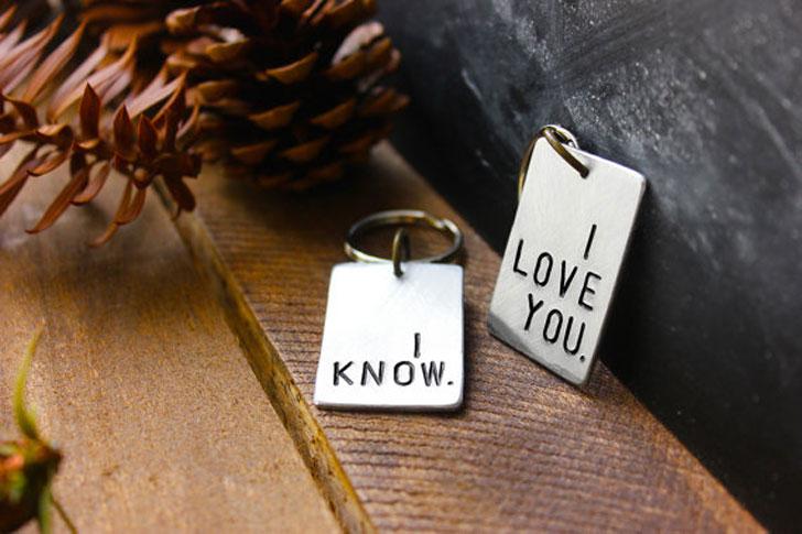 ключодържател обичам те и знам